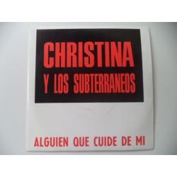 CHRISTINA Y LOS SUBTERRANEOS.   SINGLE PROMOCIONAL